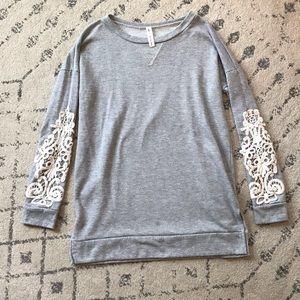 Crochet Lace Sleeve Tunic